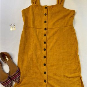 ✨Yellow Madewell Tank Dress, Button-down✨
